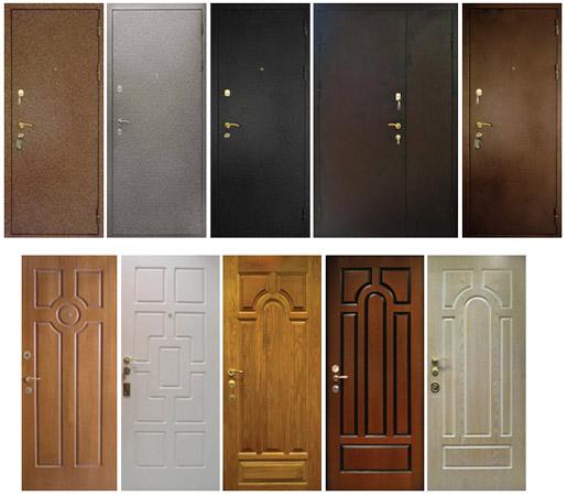 Размеры и виды входных дверей