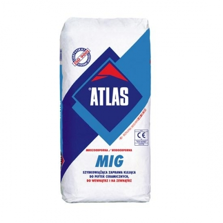 Быстросхватывающаяся клеящая смесь для плитки Atlas MIG
