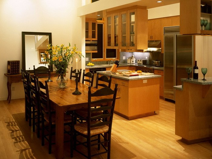 Идеальный компромисс дизайна интерьера – кухня-столовая