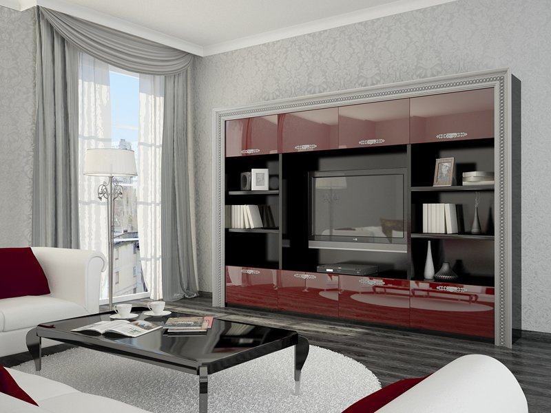 Дизайнерские идеи  в оформлении зоны под телевизор