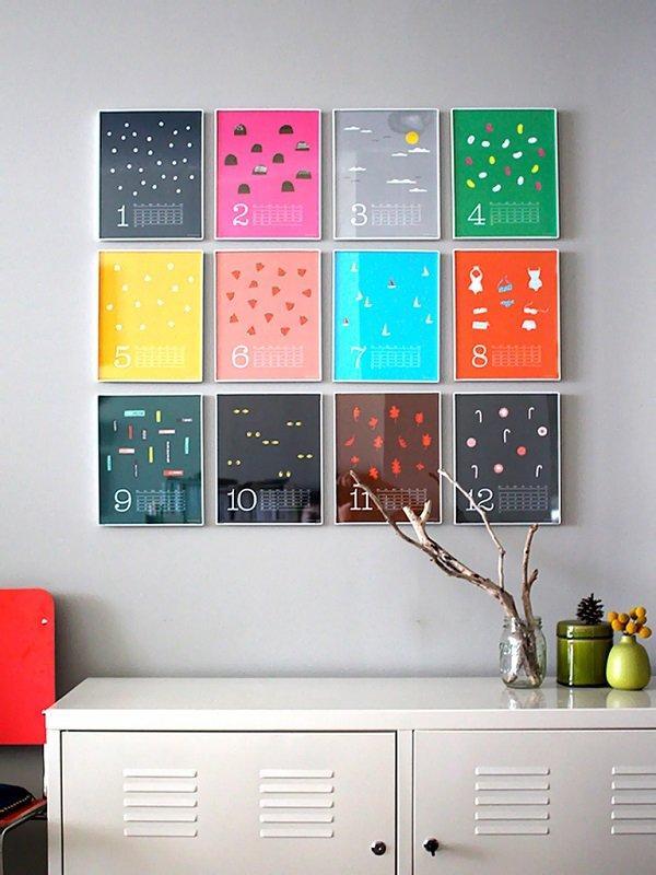Календарь в дизайне интерьера