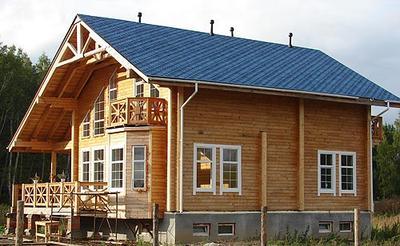 Преимущество технологии строительства домов из клееного бруса