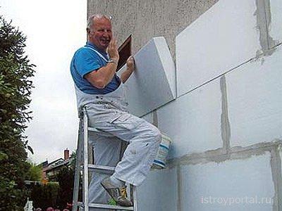 Интересный способ утепления стен
