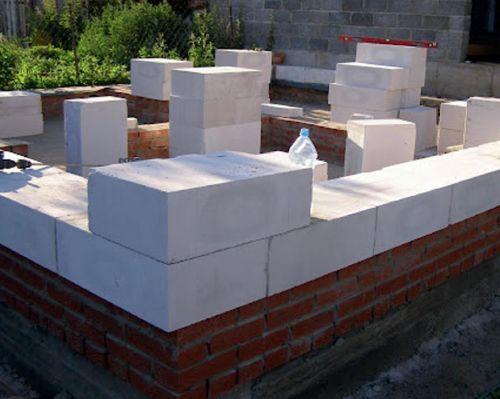 Кладка газосиликатных блоков на клей