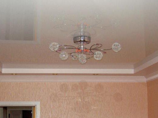 Выбор люстры для подвесного потолка
