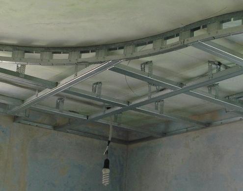 Как сделать навесной потолок из гипсокартона