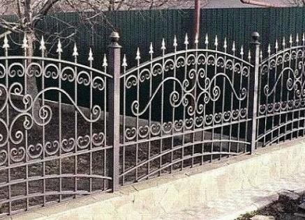 Как установить кованый забор?