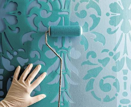 Техники покраски стен