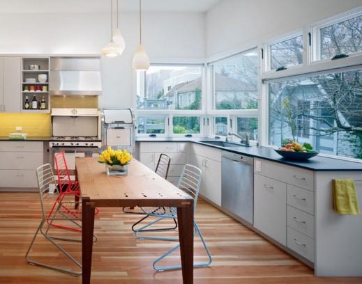Красно серая кухня: дизайн кухни, цветовое решение, освещение