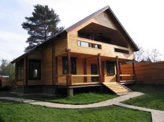 Дома из профилированного бруса 10 на 8 метров