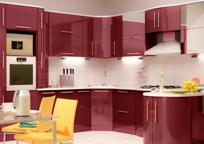 Установка кухонной мебели в стиле модерн в Москве
