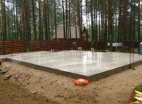 Как построить плитный фундамент