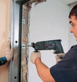 Ставим алюминиевую дверь