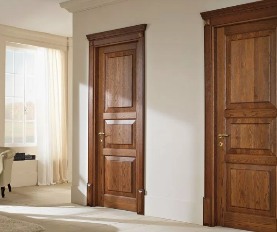 Несколько особенностей отделки двери массивом дуба