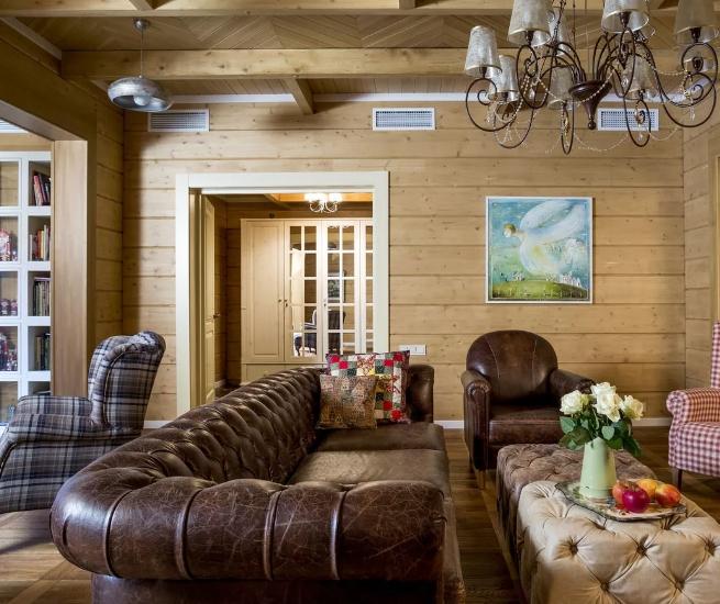 Как подобрать дизайн интерьера деревянного дома?