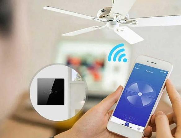 SMART Wi-Fi Регулятор оборотов вентилятора + управление светом